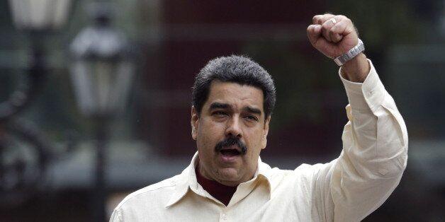 Venezuela's President Nicolas Maduro attends a rally to celebrate the 206th anniversary of the Declaration...