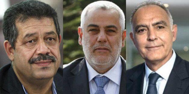 De gauche à droite, Hamid Chabat, Abdelilah Benkirane et Salaheddine