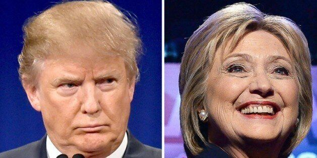 Le candidat à l'investiture républicaine Donald Trump, le 14 janvier 2016, et la candidate à l'investure...
