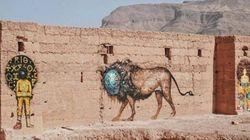 Street-art: Des fresques géantes dans le désert marocain