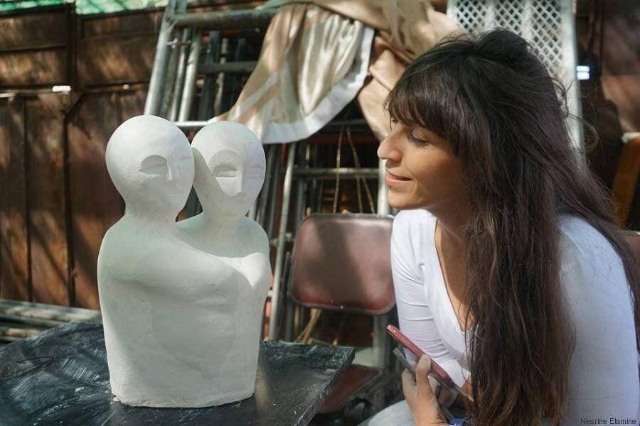 Quand la sculpture de Nesrine, jeune artiste tunisienne s'expose dans l'un des plus grands parcs de