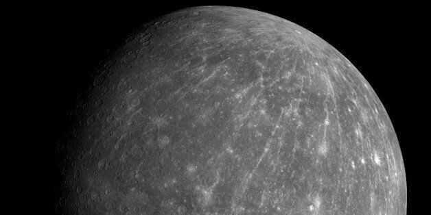 This Oct. 6, 2008 photo provided by NASA shows Mercury during the Messenger spacecraft's second flyby...