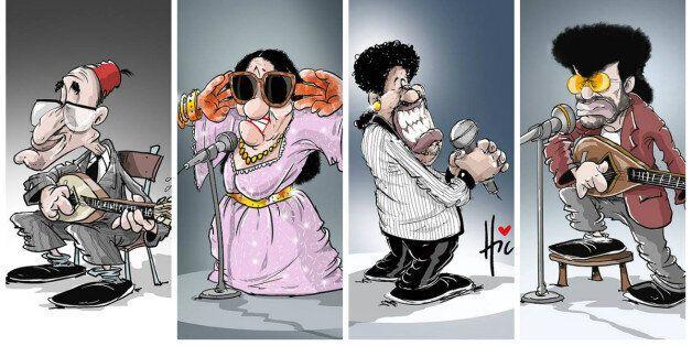 Les légendes mortes ou vivantes de la musique vues par le caricaturiste algérien Le Hic