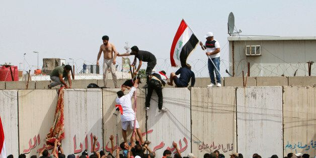 Des partisans de Moqtada al-Sadr dans