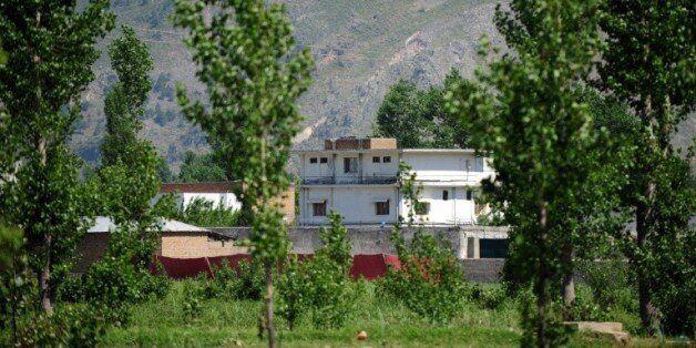 Une photo prise le 2 mai 2011 de la maison où se cachait Oussama Ben Laden à Abbottabad au