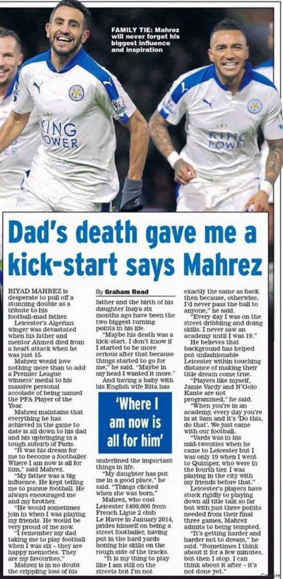 Riyad Mahrez a déjà dédicacé son bonheur, ce sera pour son regretté