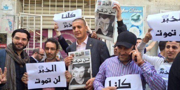 Manifestation devant le tribunal de Bir Mourad