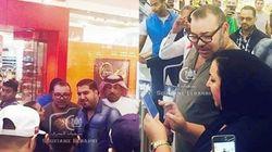 Les images de Mohammed VI dans un centre commercial au Bahreïn