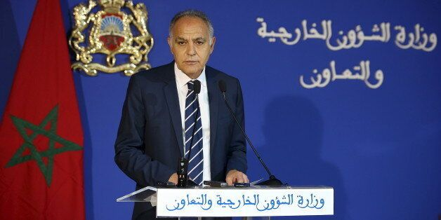 Moroccan Foreign Minister Salaheddine Mezouar speaks during a news conference on a dispute with the United...