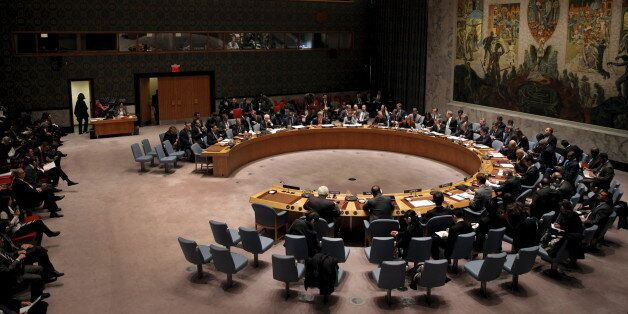 The United Nations Security Council holds a meeting on the Middle East at U.N. headquarters in New York,...