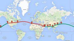 Le chemin déjà effectué par Solar Impulse et celui qu'il lui reste à