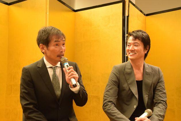 (左)杉田あきひろさん