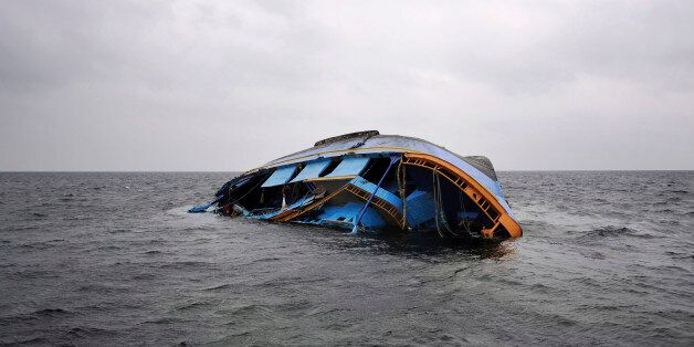 A capsized ship that originated from Libya and which according to the United Nations refugee agency was...
