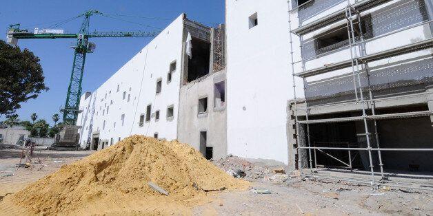 Un chantier de construction dans la banlieue de