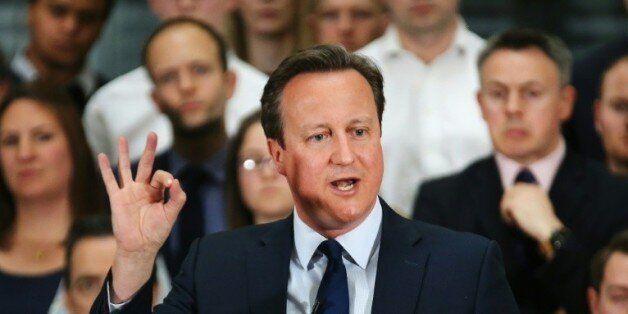 Le Premier ministre britannique David Cameron à Birmingham le 5 avril