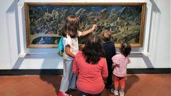 Il quadro è a 65 centimetri di altezza: agli Uffizi i bambini possono ammirare il Beato
