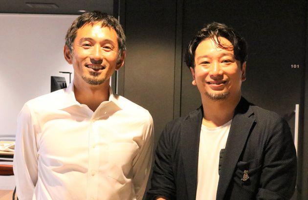 為末大さん(左)と山崎大祐さん(右)