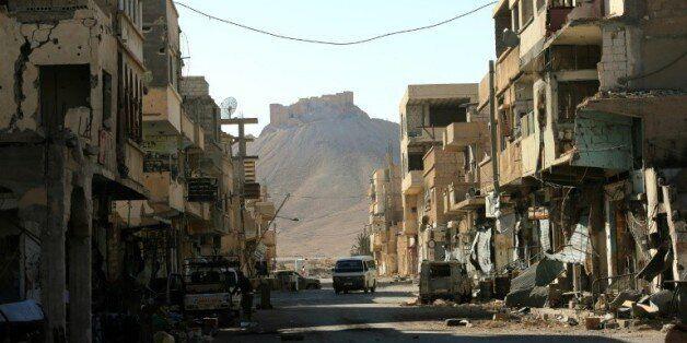 Une rue de Palmyre en Syrie, le 31 mars
