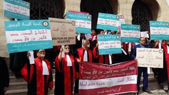 Tunisie: Les magistrats tunisiens protestent de nouveau contre la loi sur le Conseil supèrieur de la