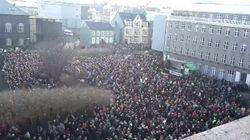 Panama Papers: les Islandais manifestent contre leur premier