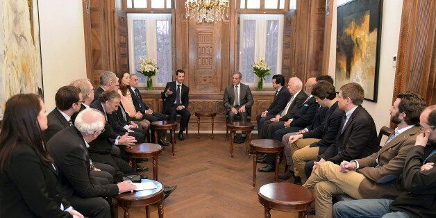 Une délégation parlementaire française reçue par Bachar al-Assad à Damas, le 27