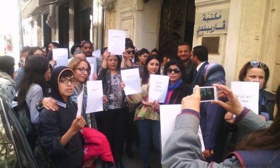 A Tunis, les lecteurs de la bibliothèque Garibaldi protestent contre un café pour