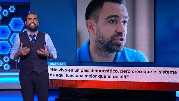 El colaborador de El Intermedio Dani Mateo critica con dureza a Xavi