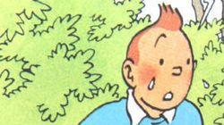 Tintin, symbole de solidarité avec le drame en