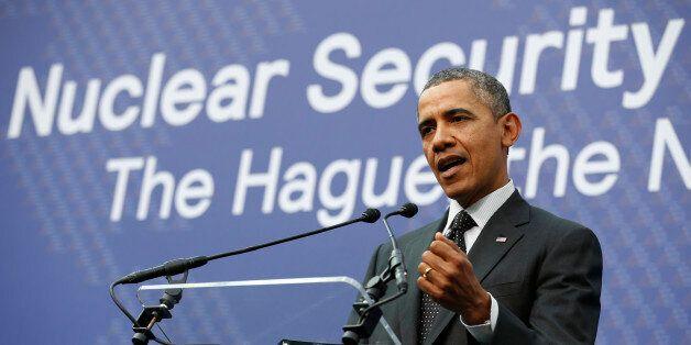 Le Président américain Barack Obama au sommet sur la sécurité nucléaire de la Haye, le 25 mars