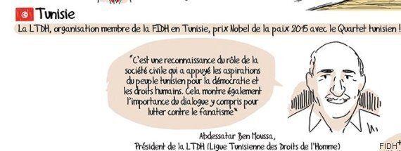 Le président de la LTDH, Abdessatar Ben Moussa, star de la bande