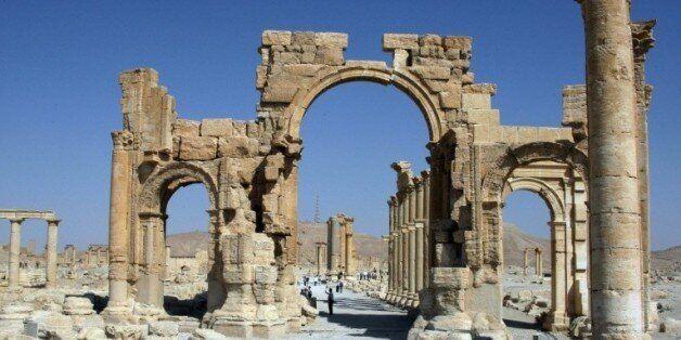 L'Arc de triomphe de Palmyre, le 19 juin 2010 en