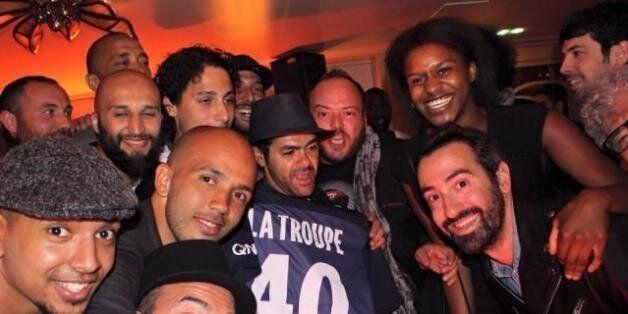 Jamel Debbouze à Marrakech avec la troupe de son Comedy