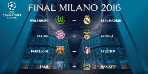 Champions League: le Barça, tenant du titre tombe sur l'Atletico, PSG vs Man