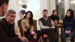 L'émouvante rencontre de George et Amal Clooney avec des réfugiés