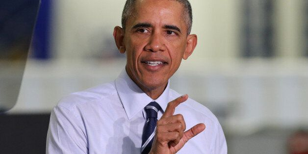 President Barack Obama speaks following his tour of the Saft America factory in Jacksonville, Fla., Friday,...