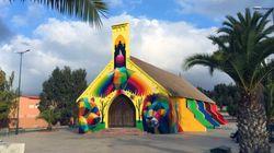 Découvrez en images l'ancienne église de Youssoufia repeinte par le street artiste Okuda San