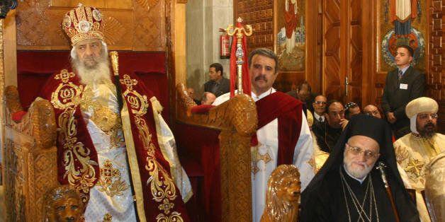 Le pape Chénouda III d'Alexandrie, le lion de Saint