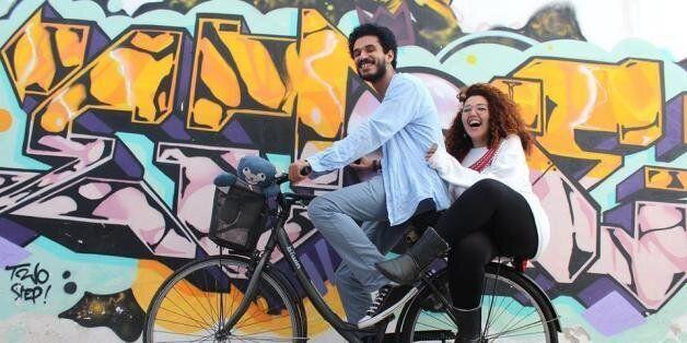 Le globe-trotteur Anass Yakine en compagnie de sa femme Amal