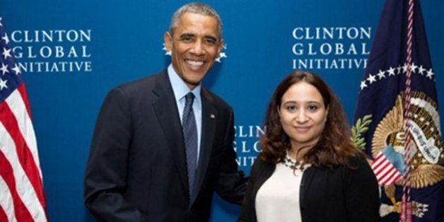 EN 2014, Khadija Janati Idrissi a rencontré Barack