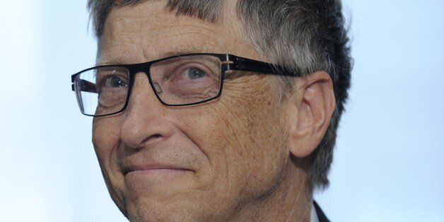 Bill Gates participates in a media availability on agricultural research, Thursday, March 13, 201, on...