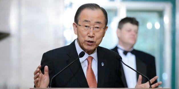 United Nations Secretary General Ban Ki-moon, secrétaire général de l'ONU, le 29 février 2016 à