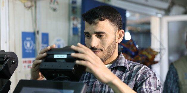 Des outils de reconnaissance d'iris ont été mis en place dans un camp de réfugiés syriens en