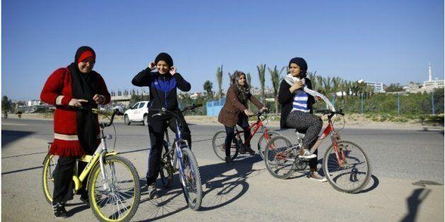 A Gaza, quatre femmes à vélo font souffler un petit vent de