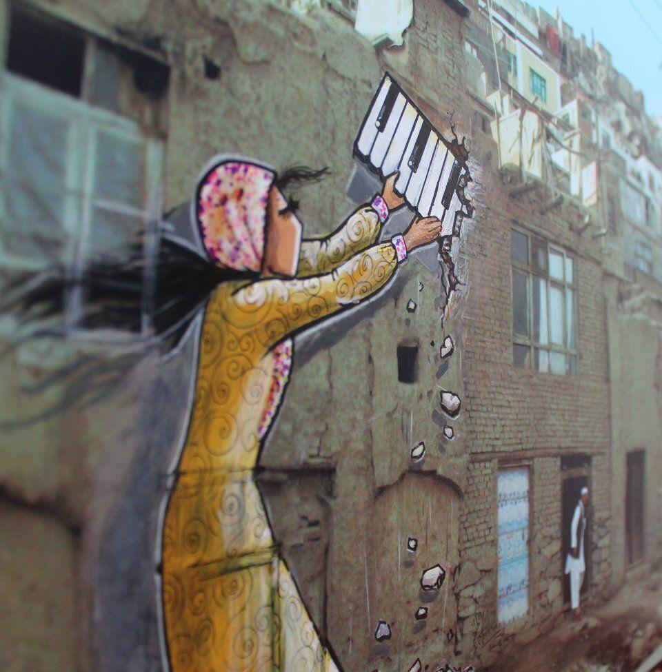 Du street art en Afghanistan? La première grapheuse du pays répand le féminisme sur les