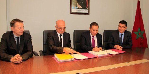 De gauche à droite, Luc Rudowski, directeur commercial de Thyssenkrupp (France), Samir Abiramia, président...