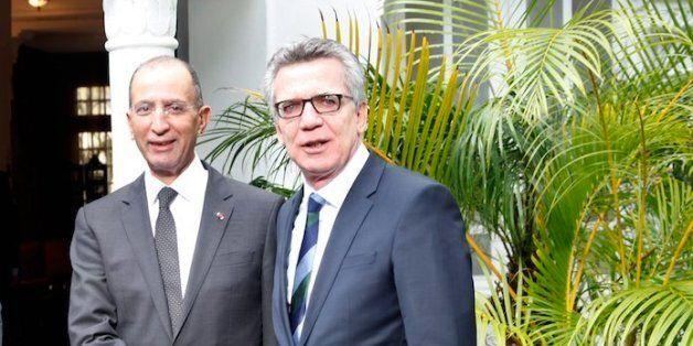 Mohamed Hassad et Thomas de Maizière, ministres marocain et allemand de
