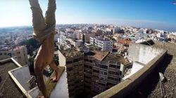Ne regardez pas cette vidéo tournée sur les toits de Rabat si vous avez le