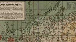 Cette carte de Mars a l'air de venir d'une autre