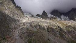 La minaccia del ghiacciaio di Planpincieux ripresa drone
