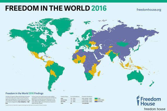 La Tunisie, à nouveau seul pays libre du monde arabe selon le dernier rapport de Freedom
